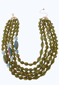 Layered Olive Shell Necklace