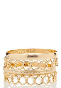 Chainlink Bangle Set