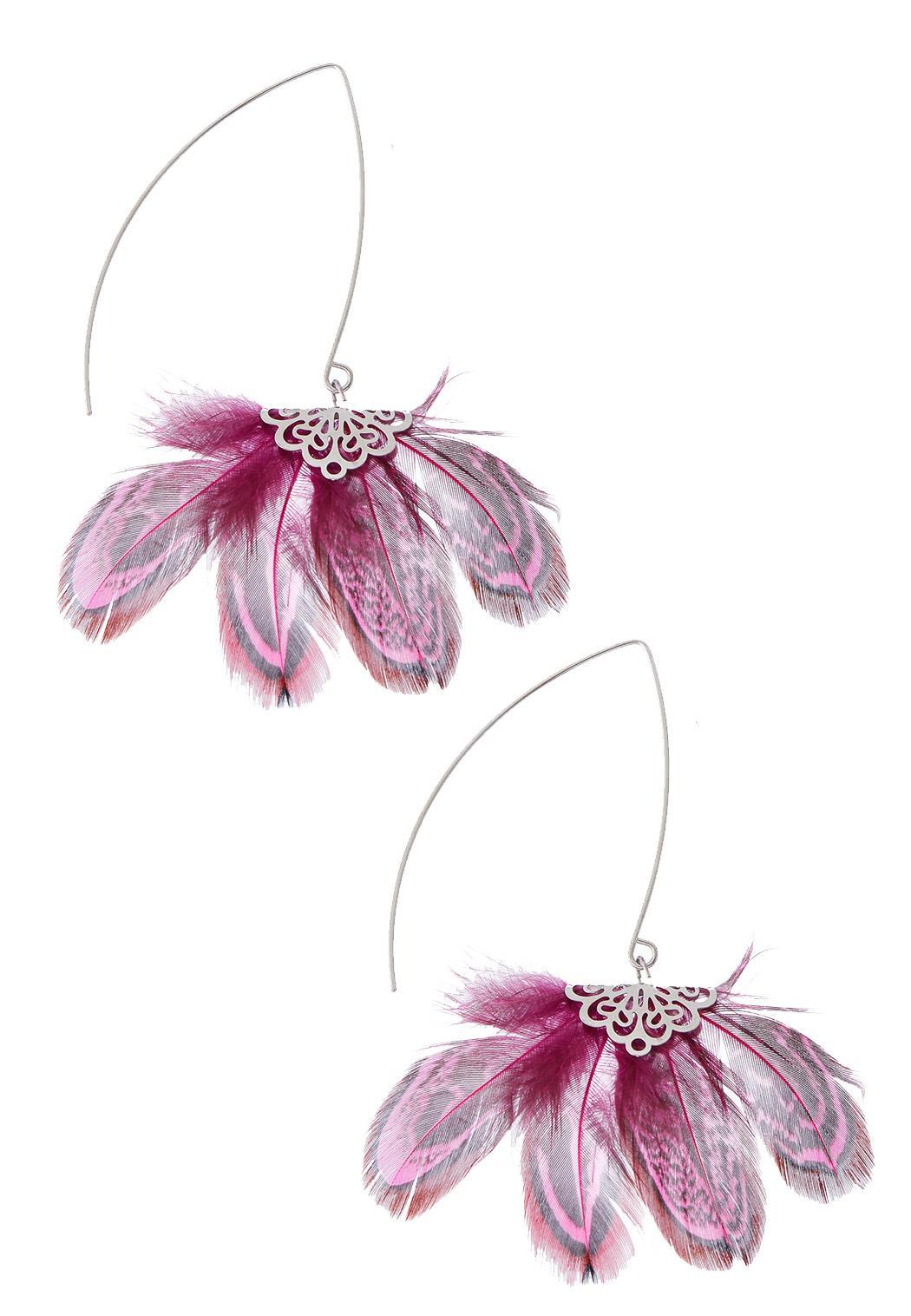 Feathery Petal Earrings