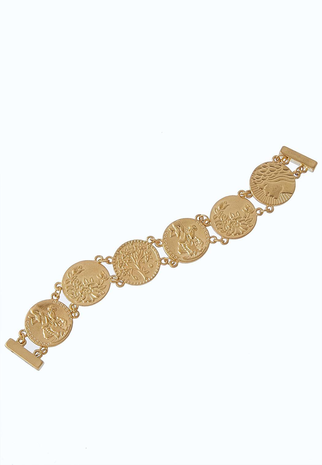 Linked  Coin Magnetic Bracelet