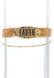 Cork Faith Wrap Bracelet