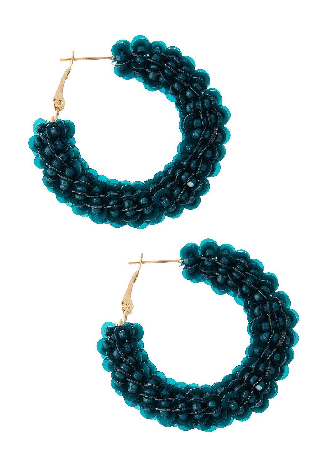 Sequin Hoop Earrings