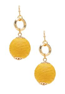Thread Ball Dangle Earrings