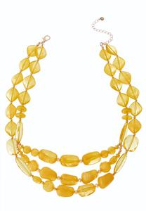 Hello Yellow Layered Necklace