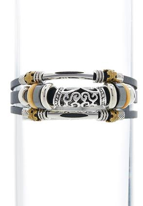 Layered Scroll Wrap Bracelet