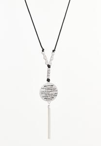 Romans Pendant Tassel Necklace