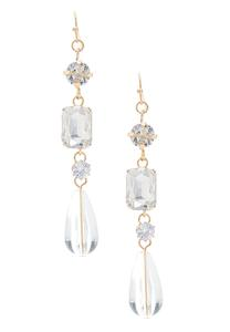 Linear Lucite Stone Earrings