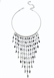 Glass Fringe Choker