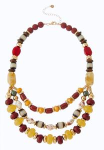 Tribal Bead Swag Necklace