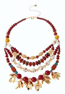Beads And Petals Swag Necklace