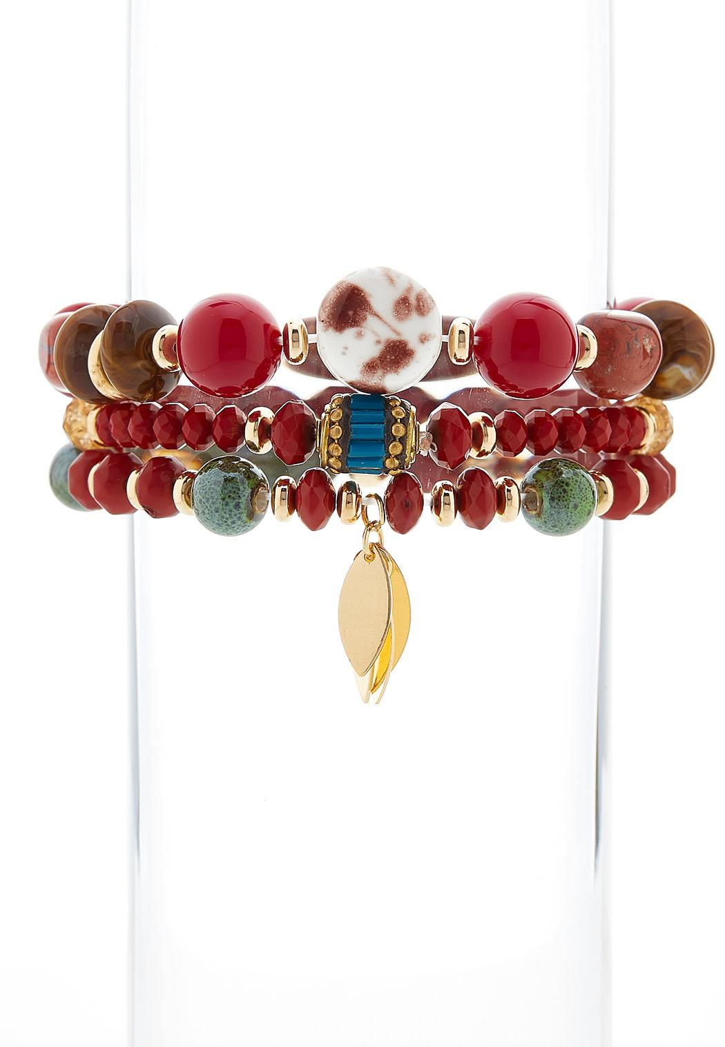 Boho Beaded Stretch Bracelet Set