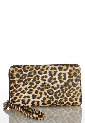 Leopard Zippered Wristlet Wallet