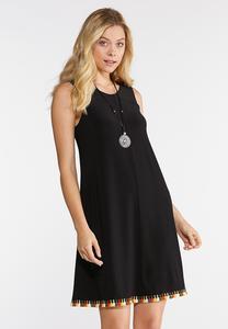 Plus Size Tassel Hem Swing Dress