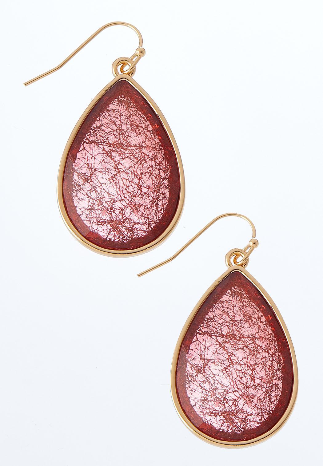 Colored Tear Dangle Earrings