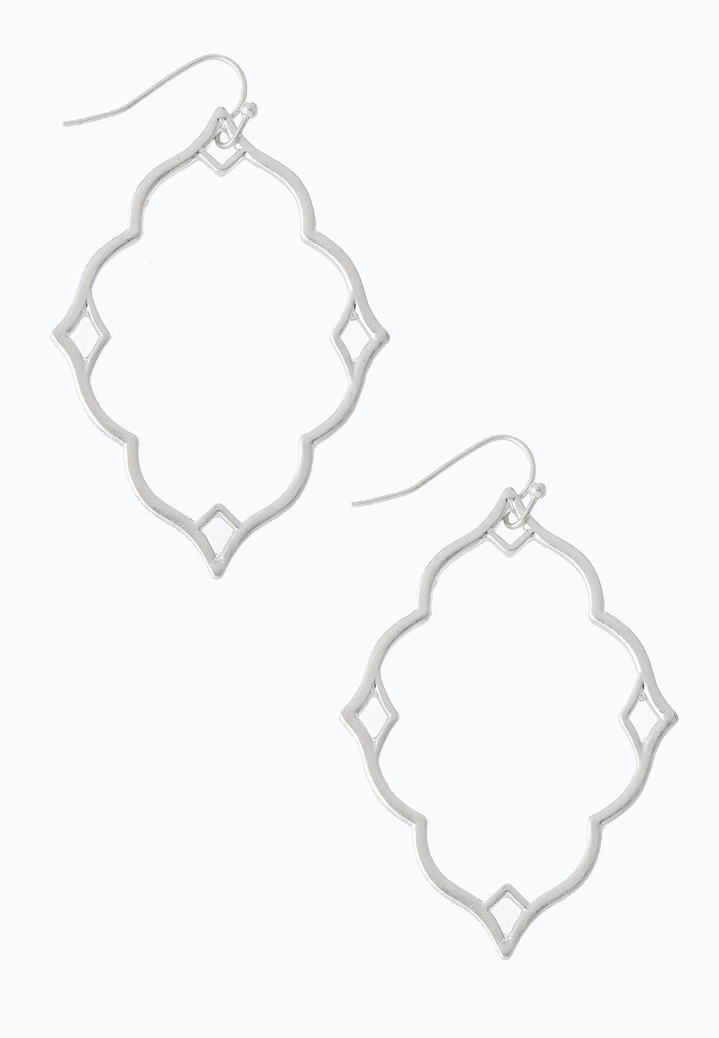 Silver Cutout Dangle Earrings