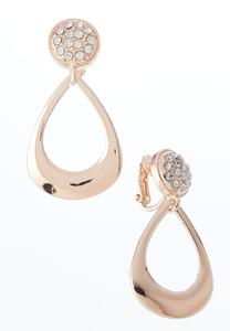 Rose Gold Loop Clip-On Earrings