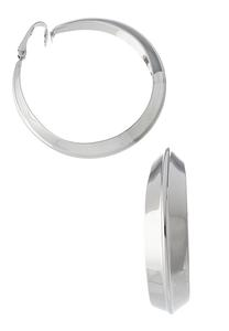 Silver Clip-On Hoop Earrings