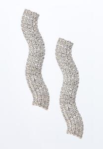 Wavy Rhinestone Earrings