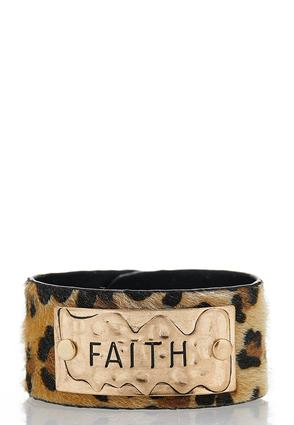 Faith Leopard Snap Bracelet