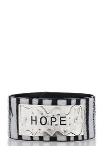 Hope Zebra Snap Bracelet