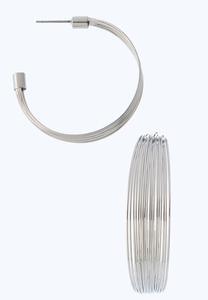 Multi Wire Hoop Earrings