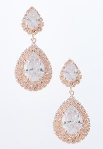 Pave Pear Shaped Earrings