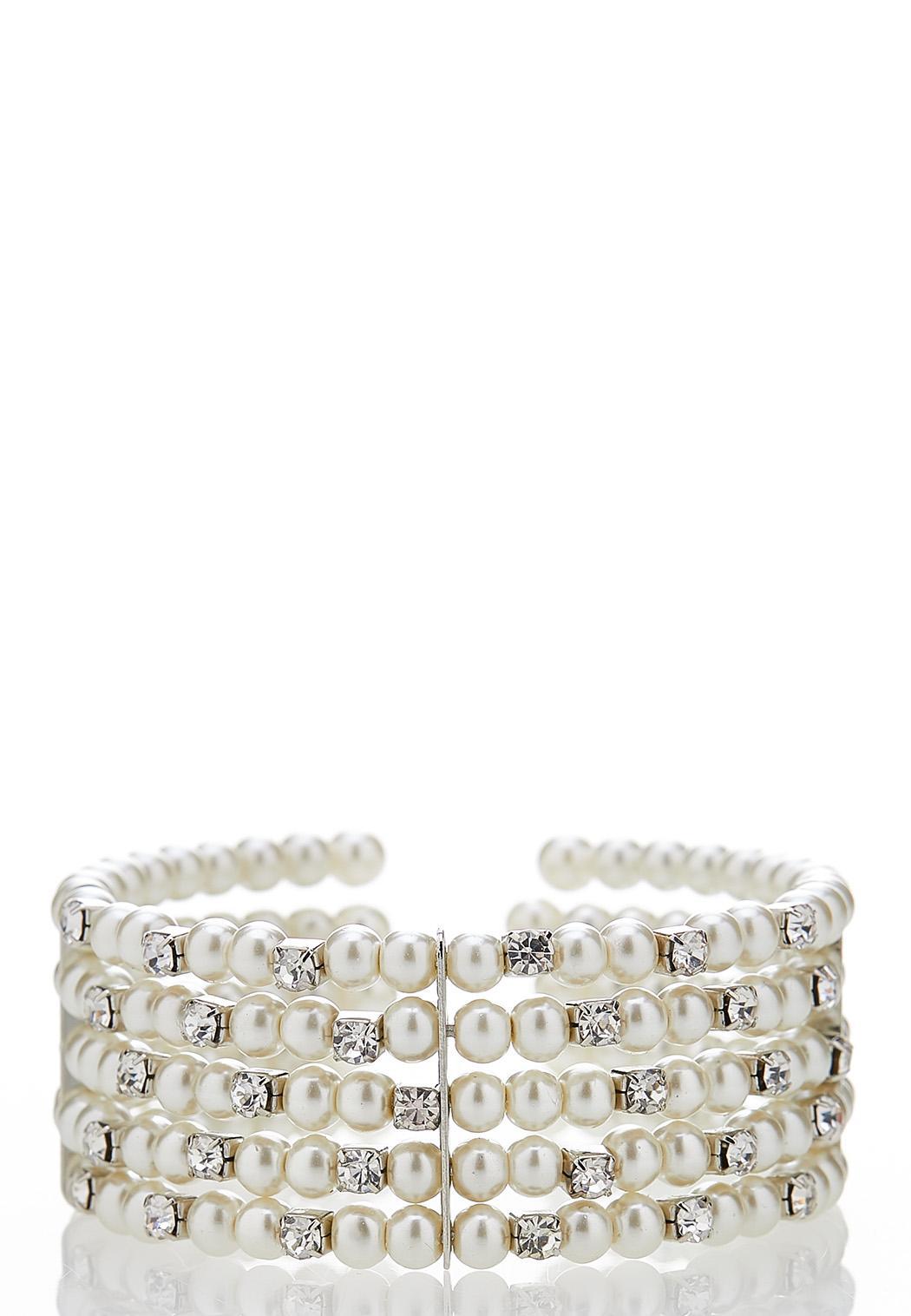 Pearl Stone Cuff Bracelet