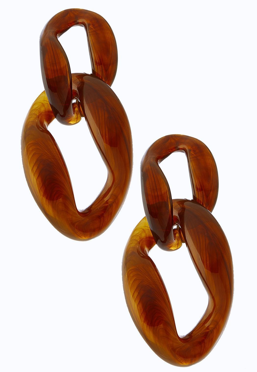 Resin Link Earrings