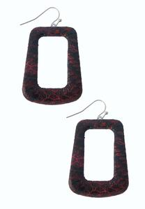 Cutout Snakeskin Print Earrings
