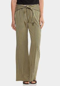 Wrap Front Wide Leg Pants