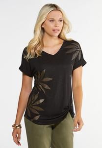 Knotted Gold Leaf Tee