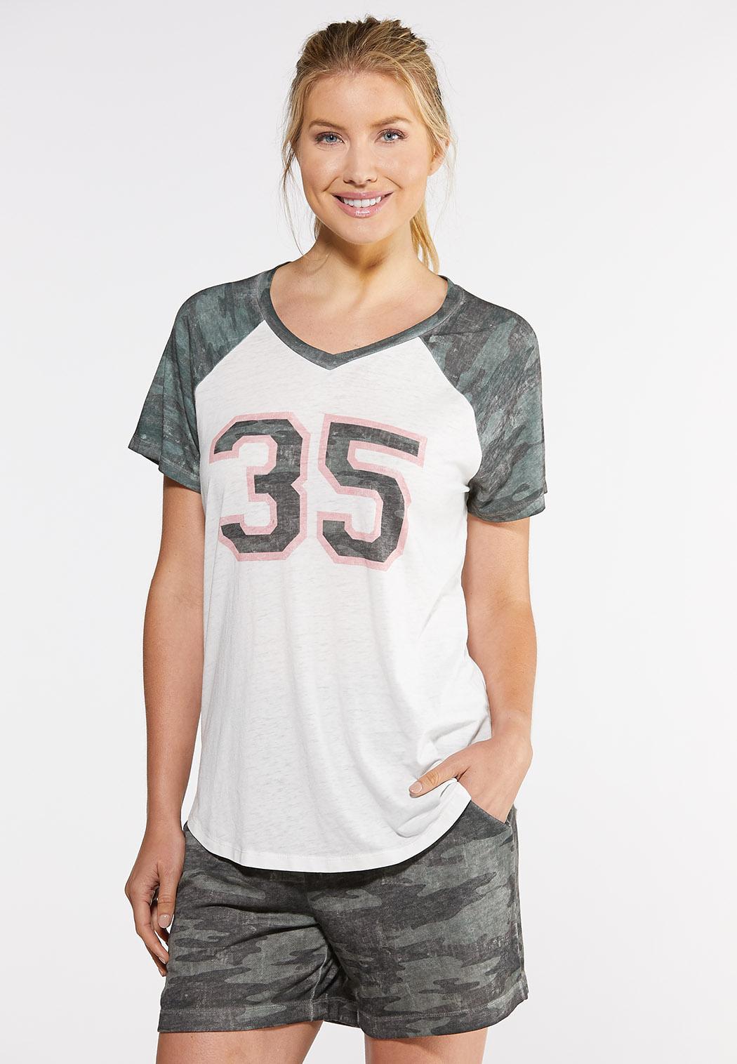 Plus Size Camo 35 Graphic Tee Tops Cato Fashions