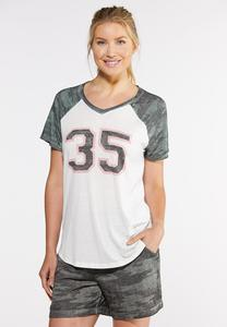 Plus Size Camo 35 Graphic Tee