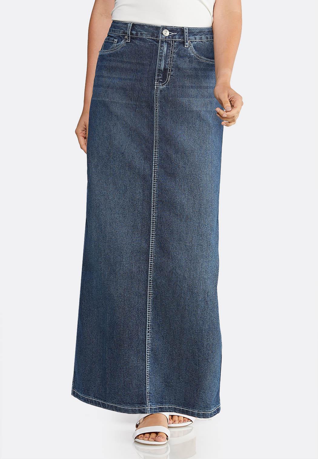 Dark Denim Maxi Skirt