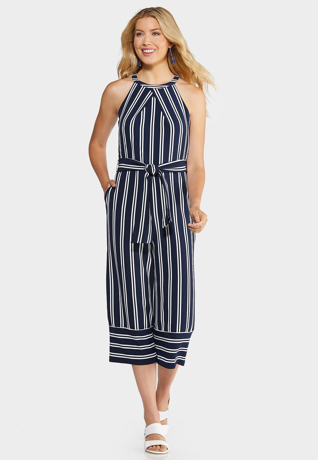 Nautical Cropped Jumpsuit