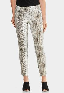 Slim Snakeskin Pants