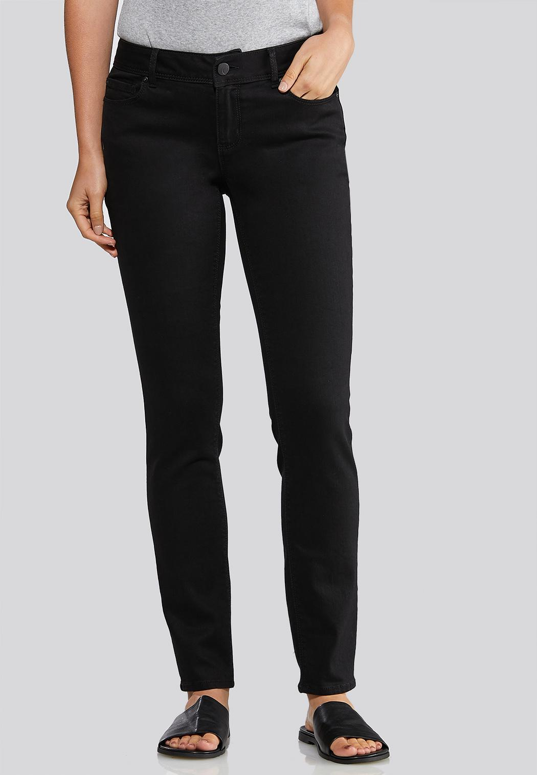 Black Skinny Leg Jeans