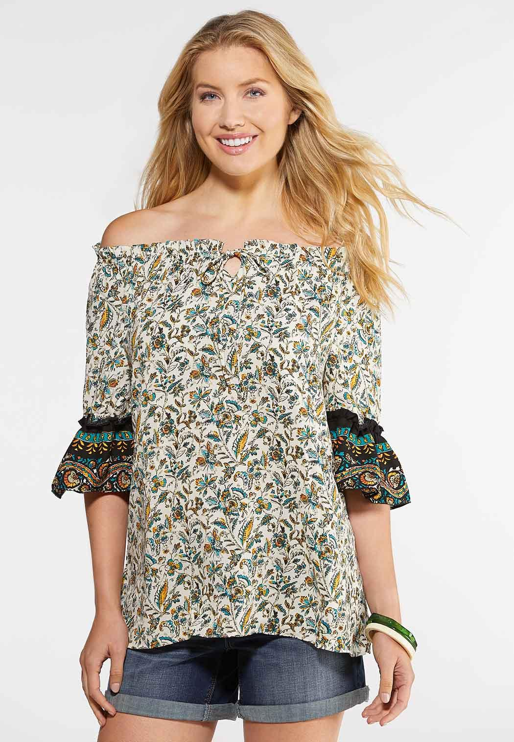 Plus Size Bohemian Poet Top Shirts & Amp ; Blouses Cato Fashions