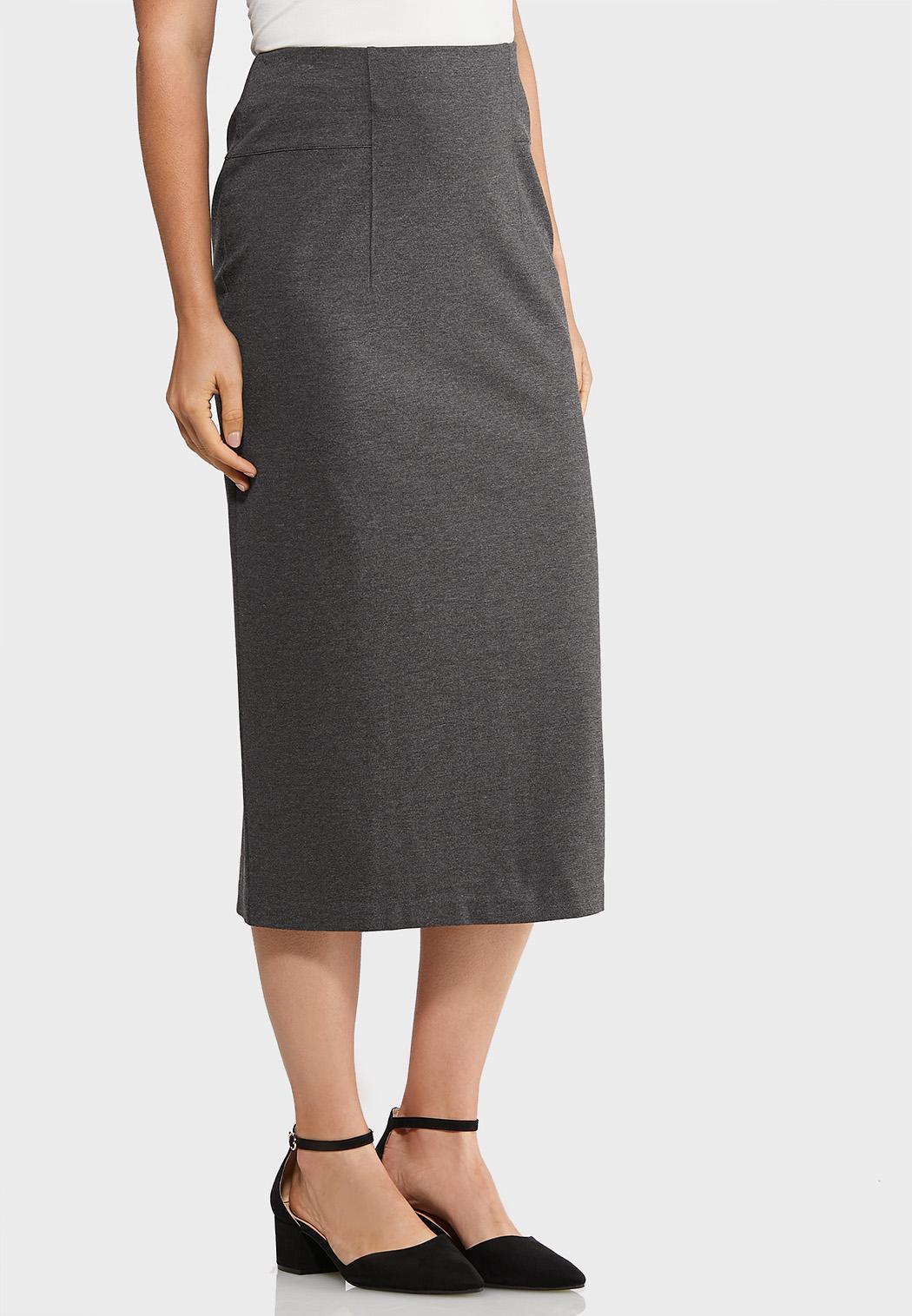 Ponte Long Midi Skirt