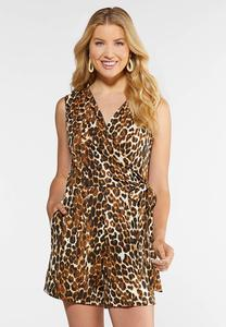 Leopard Wrap Romper