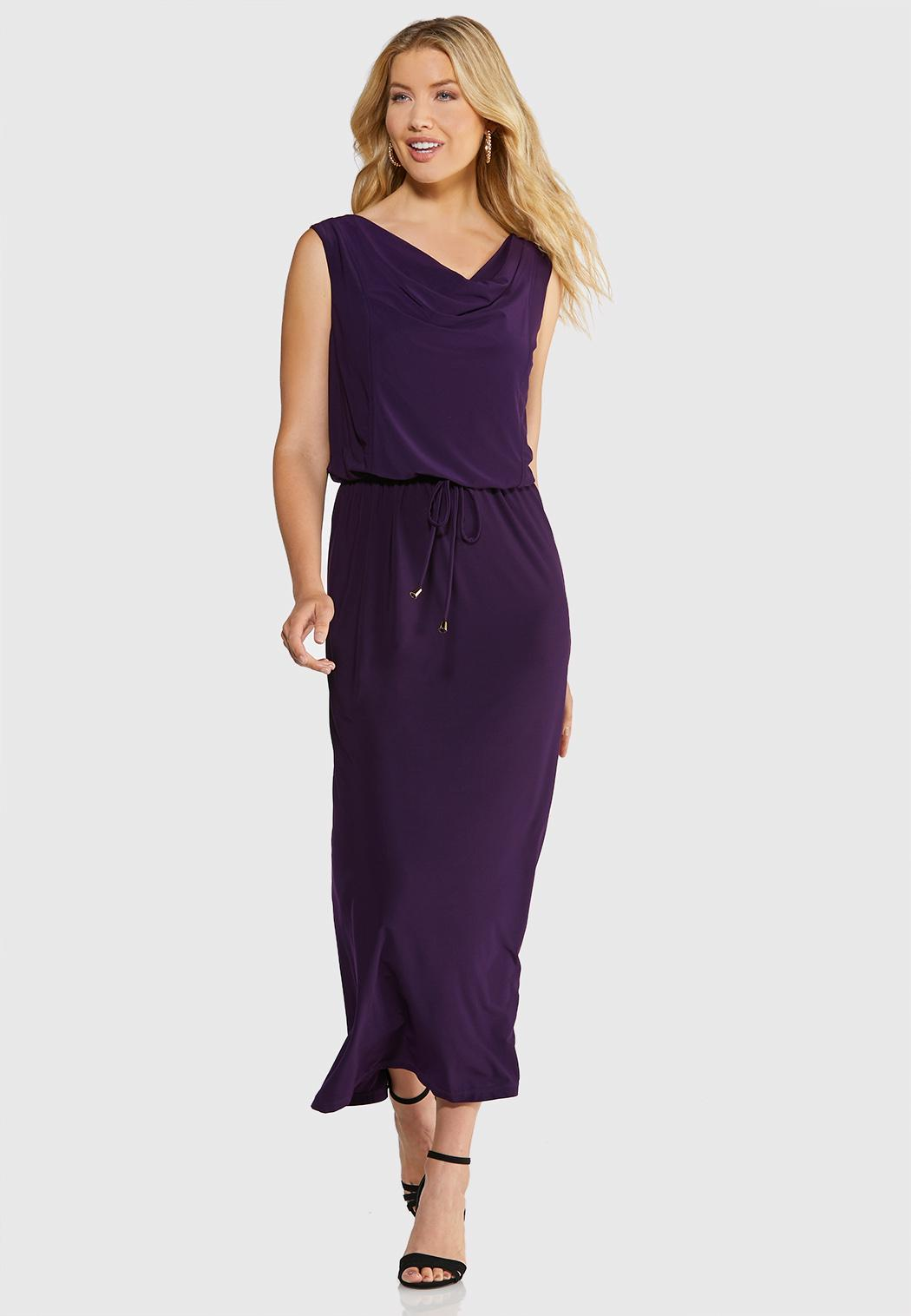 Plus Size Draped Maxi Dress Maxi Cato Fashions