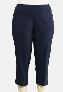 Plus Size Nautical Button Pants