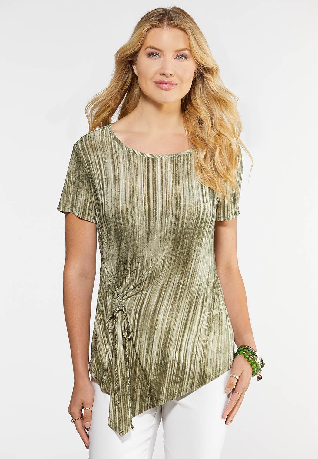 Asymmetrical Ruched Top