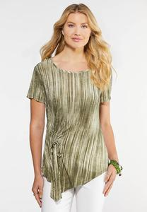 Plus Size Asymmetrical Ruched Top