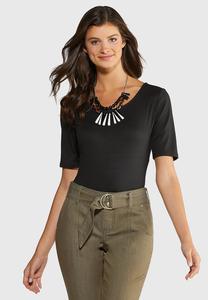 Plus Size Elbow Sleeve Bodysuit
