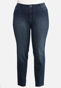Plus Size Curvy Dark Skinny Jeans