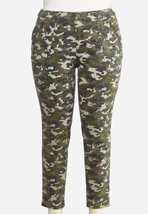 Plus Size Camo Utility Jeans