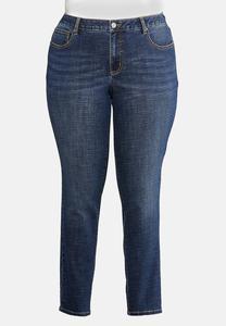 Plus Petite Crosshatch Jeans