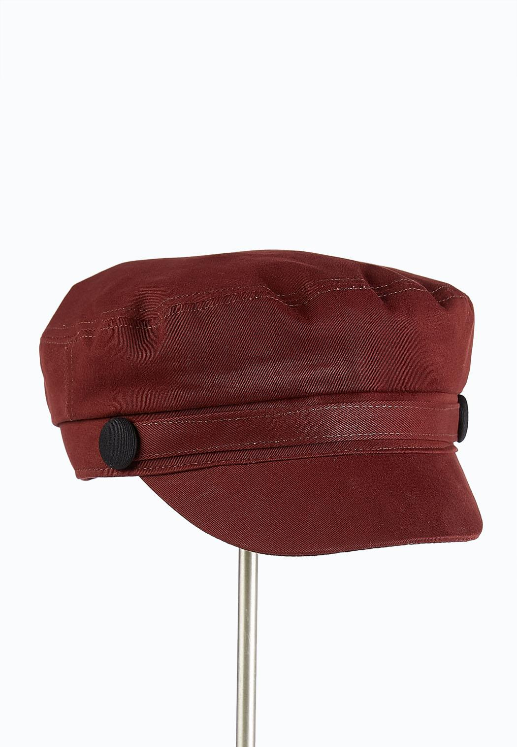 Button Strap Cabbie Hat