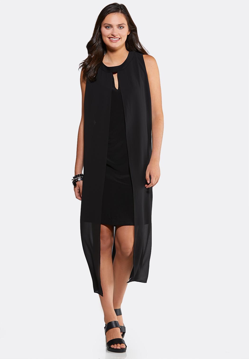Plus Size Solid Flyaway Dress Plus Sizes Cato Fashions